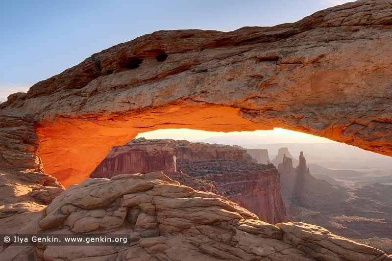 landscapes stock photography | Sunrise at Mesa Arch, Island in the Sky, Canyonlands National Park, Utah, USA, Image ID CANYONLANDS-NATIONAL-PARK-UTAH-USA-0003