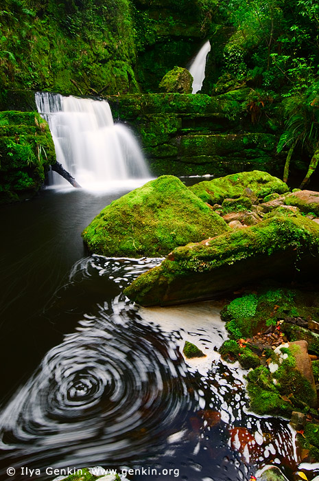 landscapes stock photography | Lower McLean Falls, The Catlins, South Island, New Zealand, Image ID NZ-MCLEAN-FALLS-0001