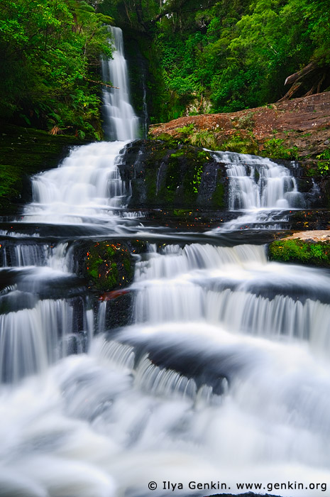 landscapes stock photography | Upper McLean Falls, The Catlins, South Island, New Zealand, Image ID NZ-MCLEAN-FALLS-0003