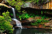 landscapes stock photography | Upper Gledhill Falls, Ku-ring-gai Chase National Park, NSW, Australia, Image ID NSW-GLEDHILL-FALLS-0001.