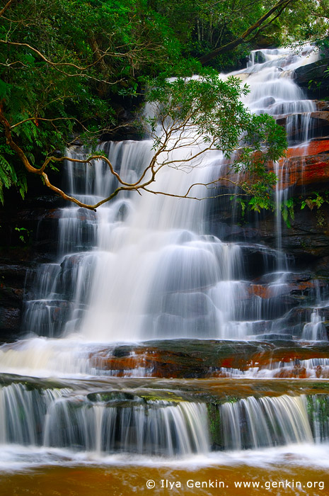 landscapes stock photography | Upper Somersby Falls, Brisbane Water National Park, Central Coast, NSW, Australia