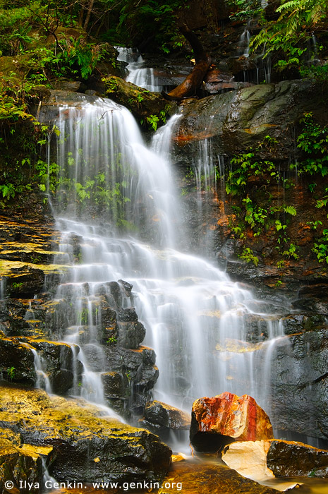 landscapes stock photography | Lodore Falls, Valley of the Waters Creek, Blue Mountains National Park, New South Wales (NSW), Australia, Image ID AU-LODORE-FALLS-0001