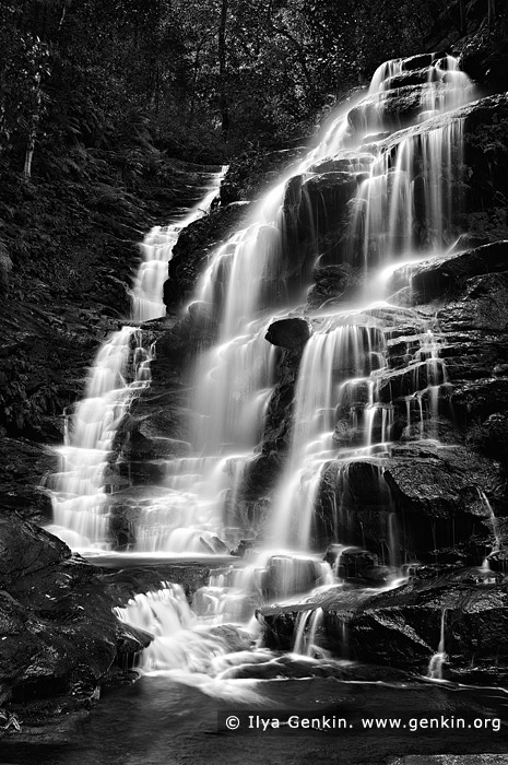 landscapes stock photography | Sylvia Falls, Valley of the Waters Creek, Blue Mountains National Park, New South Wales (NSW), Australia, Image ID AU-SYLVIA-FALLS-0001