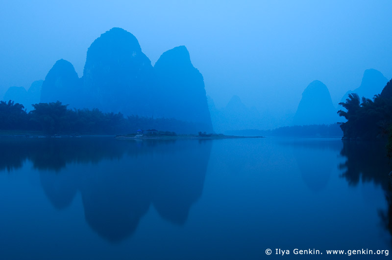 landscapes stock photography | 20 Yuan Note View at Dawn, Xingping, Yangshuo, China, Image ID CHINA-YANGSHUO-XINGPING-0001
