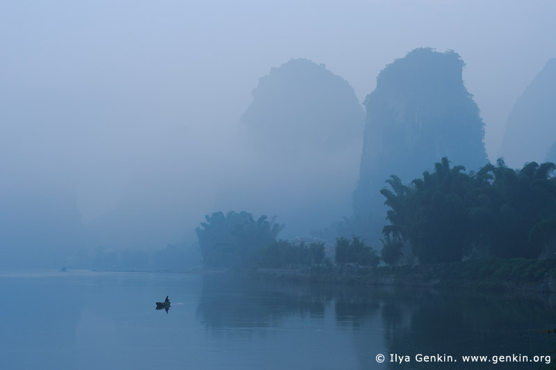 Li River View near Yangshuo, China