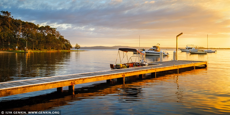 landscapes stock photography | Wangi Point Jetty at Sunrise, Wangi Wangi, Lake Macquarie, NSW, Australia