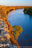 landscapes stock photography | Big Bend at Sunset, Murray River, South Australia, Australia, Image ID AU-MURRAY-BIG-BEND-0002. Big Bend clay cliffs between Swan Reach and Nildottie towns on Murray river at sunset.