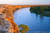 landscapes stock photography | Big Bend at Dusk, Murray River, South Australia, Australia, Image ID AU-MURRAY-BIG-BEND-0003. Last rays of the Sun highlighted hight cliffs of the Big Bend on Murray river at dawn.