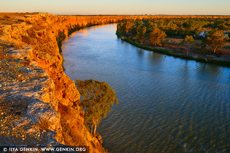 landscapes stock photography | Sunset at Murray River Big Bend, Murray River, South Australia, Australia, Image ID AU-MURRAY-RIVER-0008