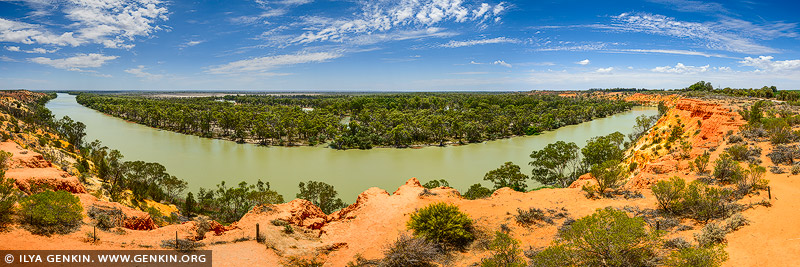 landscapes stock photography | Murray River Panorama Near Heading's Cliff, Renmark Paringa District, Riverland, South Australia, Australia, Image ID AU-MURRAY-RIVER-0010