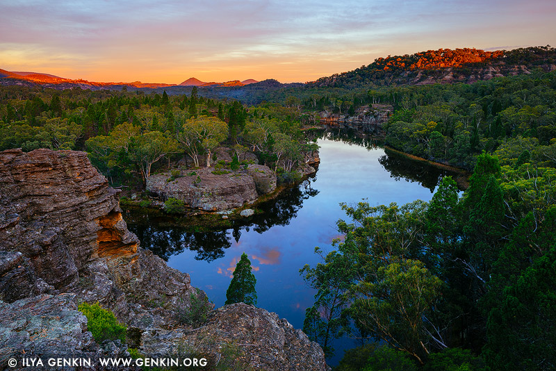landscapes stock photography | Dunns Swamp at Sunset, Wollemi National Park, New South Wales (NSW), Australia, Image ID AU-DUNNS-SWAMP-0002