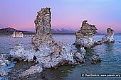 landscapes stock photography | Sunset at Lake Mono, Mono Lake Tufa State Reserve, Eastern Sierra, Mono County, California, USA, Image ID USA-LAKE-MONO-0001. Unique tufa towers or tufa formations (calcium carbonate) at the South Tufa Area, Mono Lake in California with the eastern escarpment of the Sierra Nevada Mountains behind.