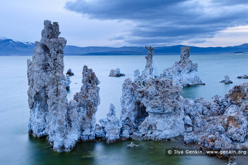 landscapes stock photography | Lake Mono at Twilight, Mono Lake Tufa State Reserve, Eastern Sierra, Mono County, California, USA, Image ID USA-LAKE-MONO-0002