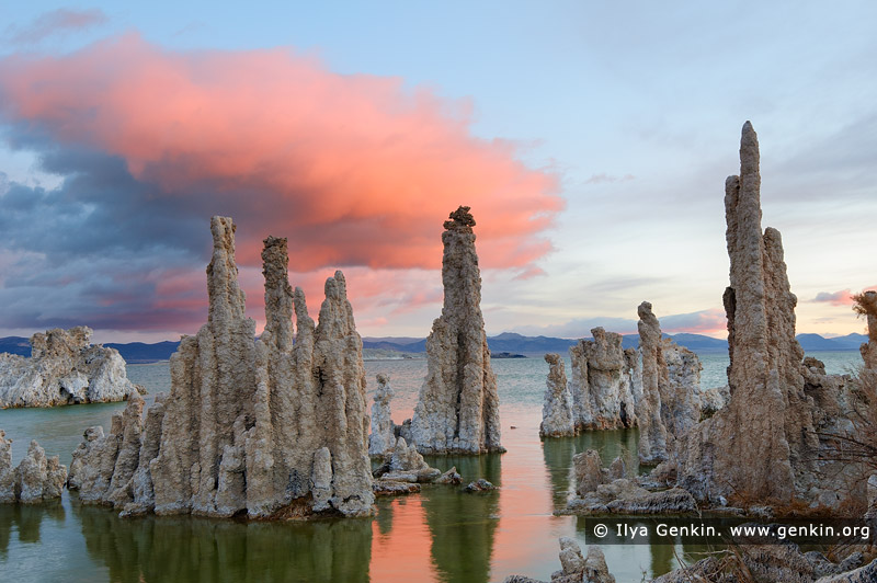 landscapes stock photography | Sunrise at Lake Mono, Mono Lake Tufa State Reserve, Eastern Sierra, Mono County, California, USA, Image ID USA-LAKE-MONO-0004