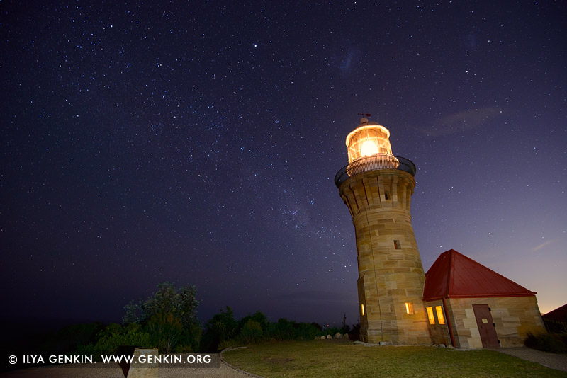 lighthouses stock photography | Barrenjoey Lighthouse at Night, Barrenjoey Head, Palm Beach, Sydney, NSW, Australia, Image ID AU-BARRENJOEY-LIGHTHOUSE-0001