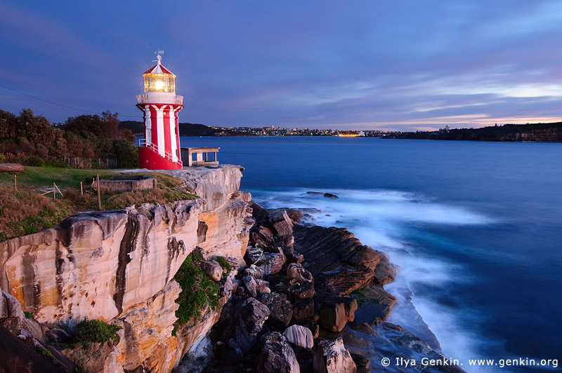 lighthouses stock photography | Hornby Lighthouse at Dawn, South Head, Watson Bay, Sydney, New South Wales (NSW), Australia, Image ID AU-HORNBY-LIGHTHOUSE-0002