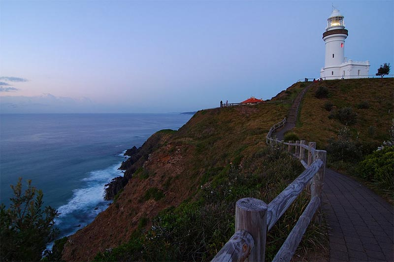 lighthouses stock photography | The Cape Byron Lighthouse, The Most Easterly Point, of the Australian Mainland, Cape Byron, Bypon Bay, NSW, Image ID AULH0008
