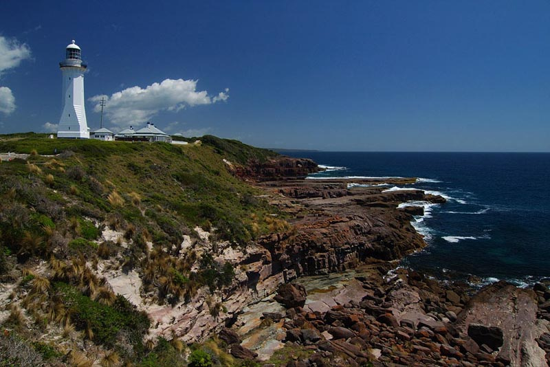 lighthouses stock photography | The Green Cape Lighthouse, Ben Boyd National Park, NSW, Image ID AULH0009