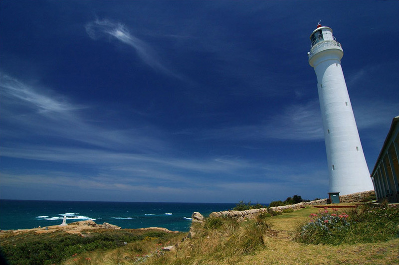 lighthouses stock photography | The Point Hicks Lighthouse, Cape Everard,, Croajingolong National Park, VIC, Image ID AULH0011
