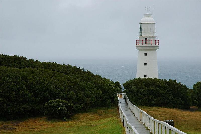 lighthouses stock photography | The Cape Otway Lighthouse, Otway National Park, VIC, Image ID AULH0013