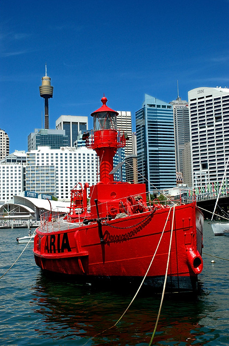 lighthouses stock photography | Carpentaria Lightship, Lightship at National Maritime Museum., Darling Harbour, Sydney, NSW, Image ID AULH0014