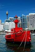 stock photography | Carpentaria Lightship, Lightship at National Maritime Museum., Darling Harbour, Sydney, NSW, Image ID AULH0014.