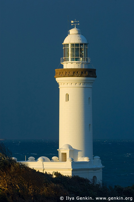 lighthouses stock photography | The Norah Head Lighthouse, Central Coast, Norah Head, NSW, Image ID AULH0017