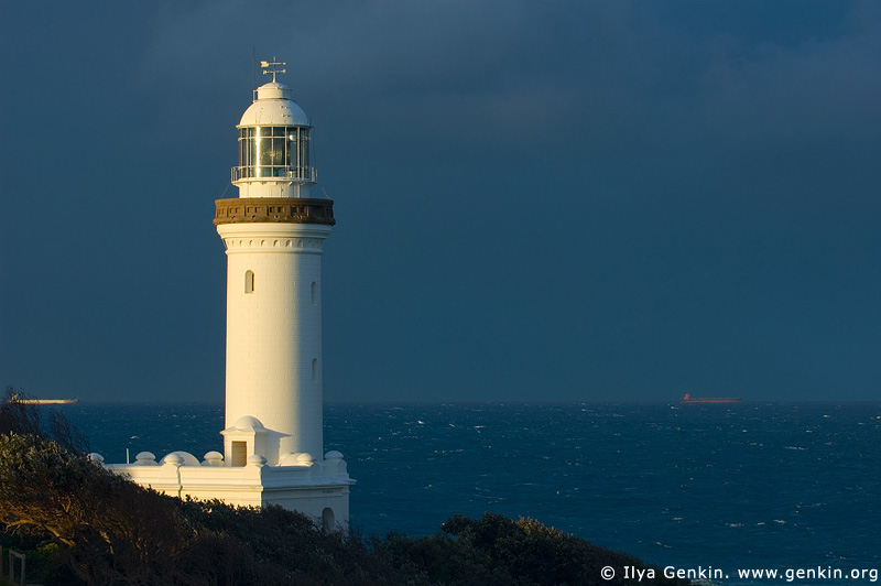 lighthouses stock photography | The Norah Head Lighthouse, Central Coast, Norah Head, NSW, Image ID AULH0018