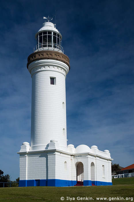 lighthouses stock photography | The Norah Head Lighthouse, Central Coast, Norah Head, NSW, Image ID AULH0040