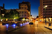 stock photography | Worcester Street at Night, Cathedral Square, Christchurch, Canterbury, New Zealand, Image ID NZ-CHRISTCHURCH-0006.