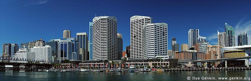 panoramas stock photography | Darling Harbour, Sydney CBD and Darling Harbour, Sydney, NSW, Image ID AUPA0005