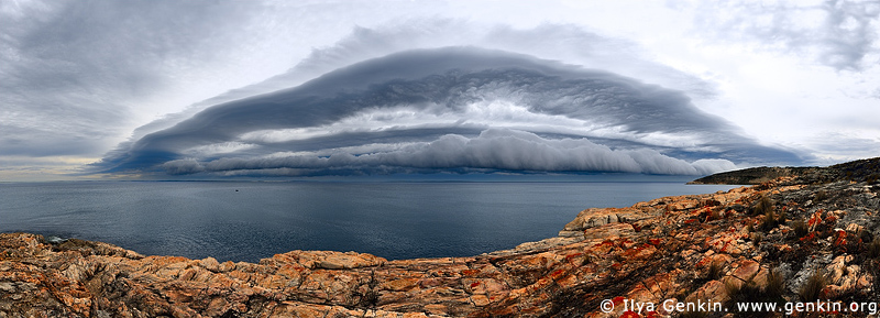 panoramas stock photography | Storm at Frenchman's Rocks, Eyre Peninsula, SA, Australia , Image ID AUPA0008
