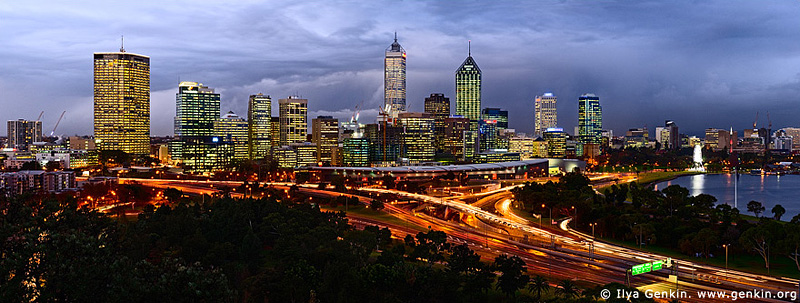 panoramas stock photography | Perth CBD, View from Kings Park, Perth, WA, Australia, Image ID AUPA0018
