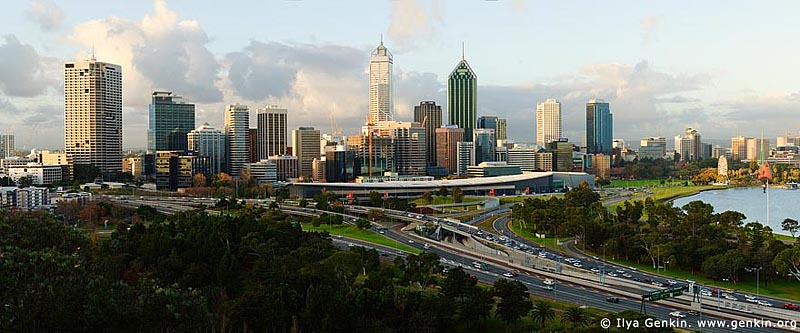 panoramas stock photography | Perth CBD, View from Kings Park, Perth, WA, Australia, Image ID AUPA0019