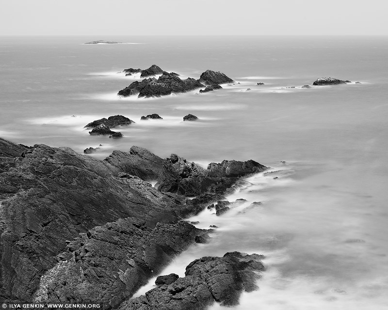 portfolio stock photography | Seal Rocks, Sugarloaf Bay, Great Lakes, NSW, Australia, Image ID AUSTRALIAN-COAST-BW-0007