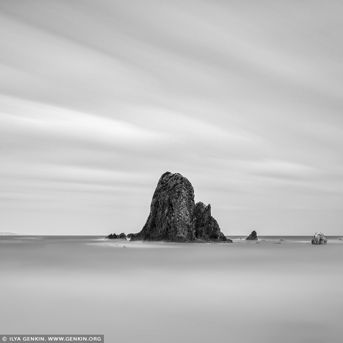 portfolio stock photography | Glasshouse Rocks, Narooma, Eurobodalla, South Coast, NSW, Australia, Image ID AUSTRALIAN-COAST-BW-0010