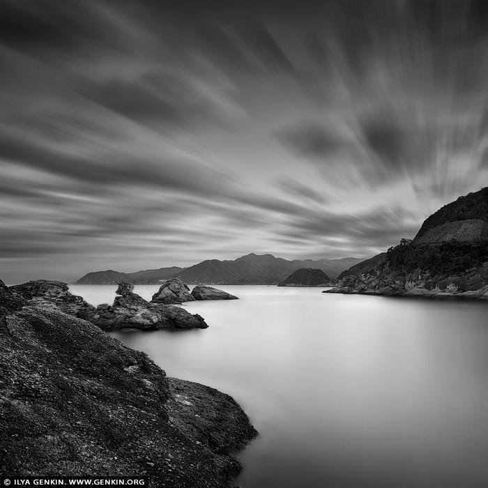 portfolio stock photography | Stormy Morning at Kumomi Bay, Kumomi, Izu Peninsula, Shizuoka Prefecture, Japan, Image ID JAPAN-KUMOMI-0001