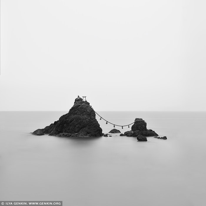 portfolio stock photography | Meoto Iwa #3 (The Wedded Rocks), Futami, Mie Prefecture, Japan, Image ID JAPAN-MEOTO-IWA-0003