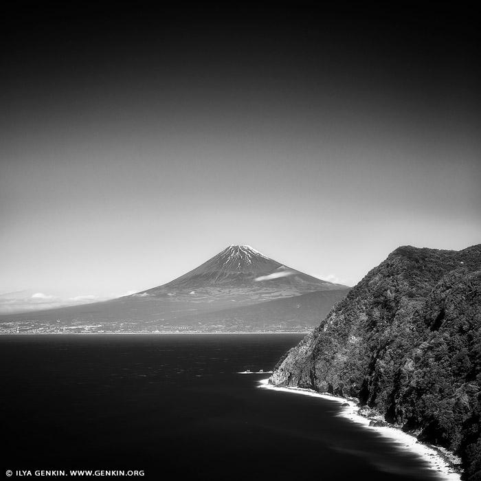portfolio stock photography | Mt. Fuji from Izu Peninsula, Shizuoka Prefecture, Japan, Image ID JAPAN-MOUNT-FUJI-0001