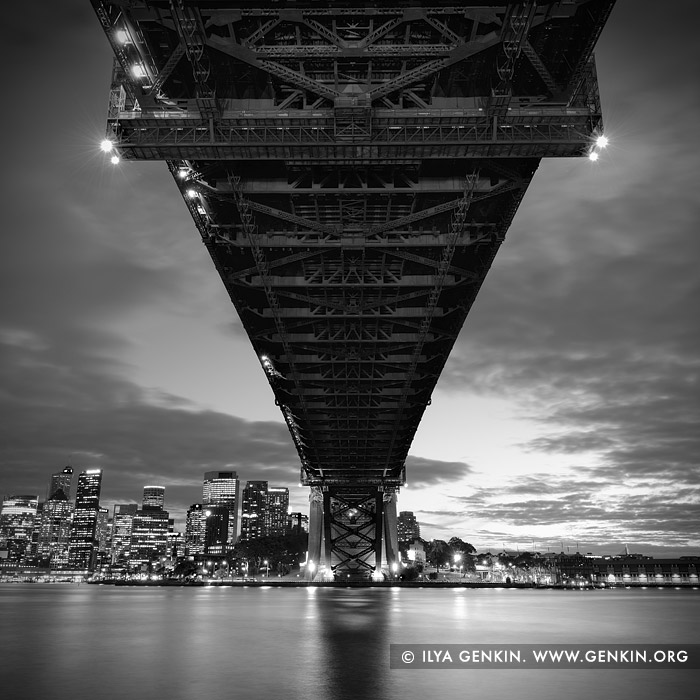 portfolio stock photography | Under The Harbour Bridge, Sydney, New South Wales (NSW), Australia, Image ID SYDNEY-IN-SQUARE-0003