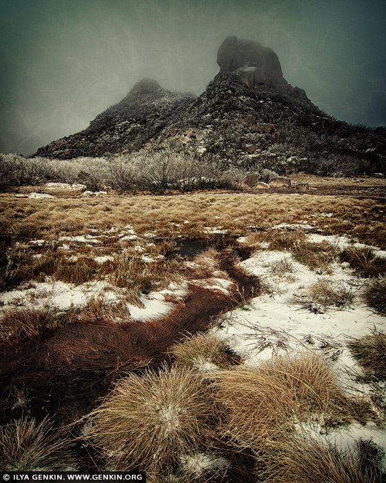 portfolio stock photography   The Cathedral Rock, Study #1, Mount Buffalo, Victoria, Australia, Image ID INSTA-STYLE-0001