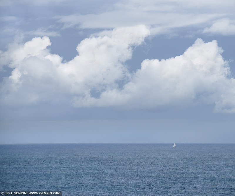 portfolio stock photography | Lonely Yacht on Pacific Ocean, Sydney, NSW, Australia, Image ID AU-PACIFIC-OCEAN-0001
