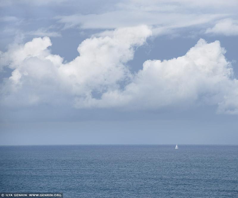 portfolio stock photography | Lonely Yacht on Pacific Ocean, Sydney, NSW, Australia, Image ID AU-PACIFIC-OCEAN-0001