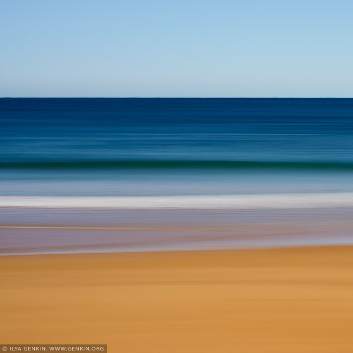 portfolio stock photography | Layers of Sand, Water and Sky #2, Sydney, NSW, Australia, Image ID AU-PACIFIC-OCEAN-0005