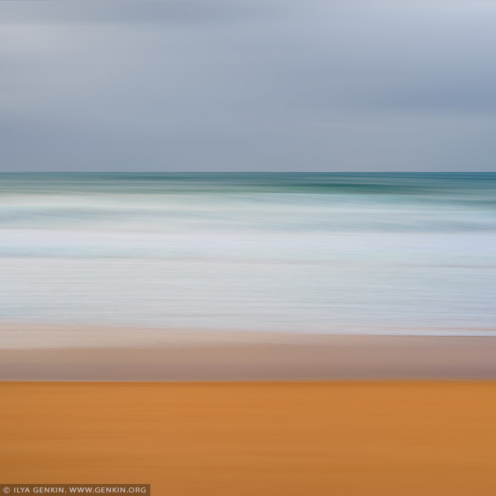 portfolio stock photography | Layers of Sand, Water and Sky #3, Sydney, NSW, Australia, Image ID AU-PACIFIC-OCEAN-0006