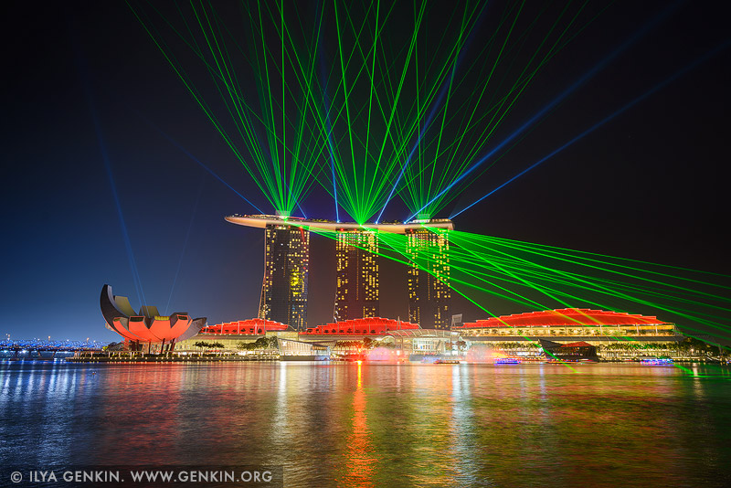singapore stock photography | Marina Bay Sands Light and Water Show, Marina Bay, Singapore
