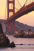 usa stock photography | The Golden Gate Bridge at Twilight, Horseshoe Bay, Sausalito, San Francisco Bay, California, USA, Image ID US-SAN-FRANCISCO-GOLDEN-GATE-0004. Stock image of the Golden Gate Bridge in San Francisco, California, USA, shot from the Horseshoe Bay at twilight.