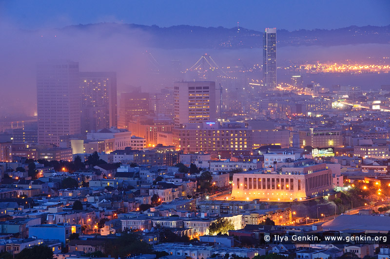 usa stock photography | San Francisco in Fog, San Francisco, California, USA, Image ID US-SAN-FRANCISCO-0003
