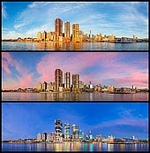 zpostsinstagram stock photography | Changing Light of Barangaroo, Sydney, New South Wales, Australia, Image ID INSTAGRAM-9995. Three panoramas of Barangaroo in Sydney, NSWales, Australia from day to night.