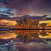zpostsinstagram stock photography | Vivid Dawn Over Sydney Opera House, Sydney, NSW, Australia, Image ID INSTAGRAM-9999. Beautiful image of the dramatic and vivid dawn over The Opera House in Sydney, NSW, Australia.